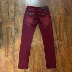 Gorgeous Miss Me signature rise skinny jeans